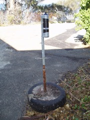 Example of a mooring system for receivers